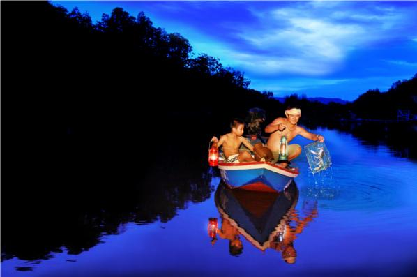 ภาพ ภูมิปัญญาบนสายน้ำ