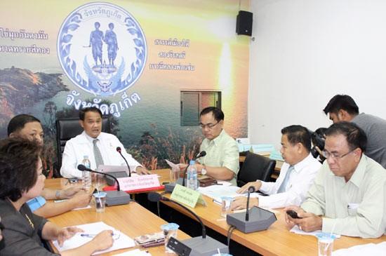 ประชุมเพื่อพิจารณากำหนดเส้นทางและระยะทางระบบขนส่งมวลชนภูเก็ต (รถไฟฟ้ารางเบา)