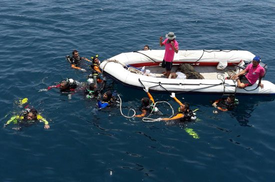 โครงการเก็บขยะใต้ทะเลแหล่งปะการังเทียม เพื่ออนุรักษ์ทรัพยากรธรรมชาติและสิ่งแวดล้อมทางทะเล