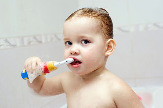 ฝึกเด็กแปรงฟัน