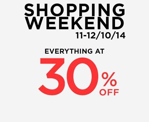 โปรโมชั่น MANGO Shopping Weekend ลดทั้งร้าน 30% (11 – 12 ต.ค.57)