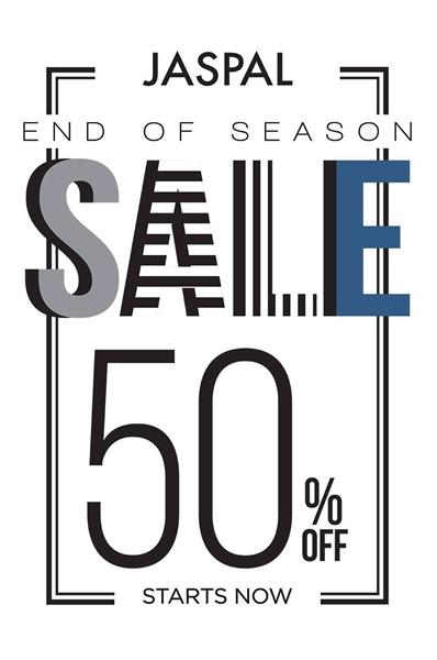 โปรโมชั่น JASPAL End Of Season Sale ลดสูงสุด 50% (เริ่ม 15 ม.ค.58)