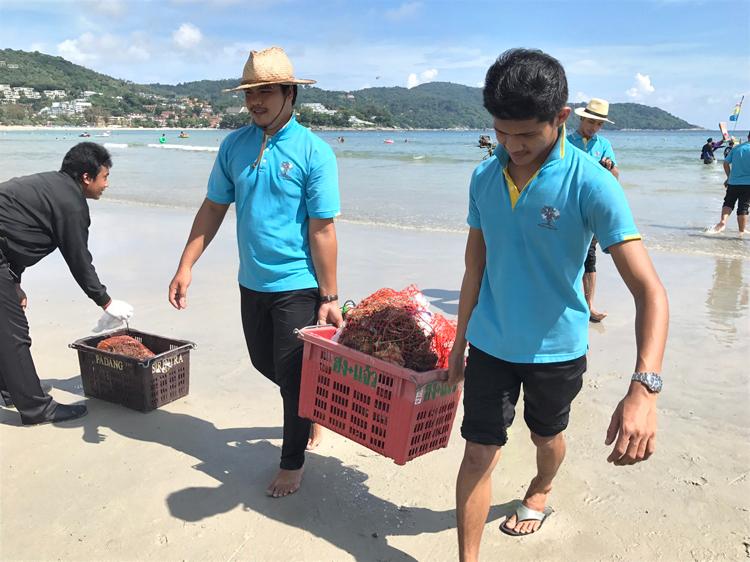 ภูเก็ตจัดโครงการทำความสะอาดชายหาดและใต้ทะเลหาดกะตะ