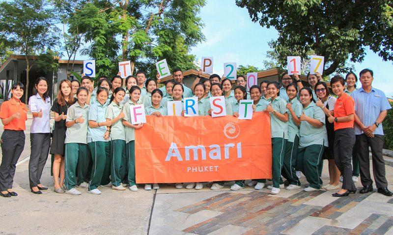 """อมารี ภูเก็ต ร่วมส่งเสริมการศึกษากับกิจกรรม """"ก้าวแรกเพื่อน้อง"""""""