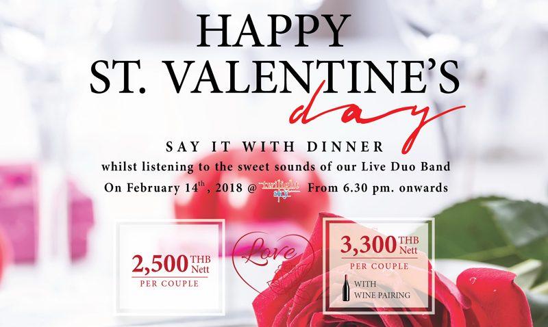 ดื่มด่ำกับเทศกาลแห่งความรัก ที่ห้องอาหาร Twilight Sky เดอะ ซิส กะตะ ภูเก็ต