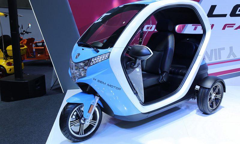 เอช เซม มอเตอร์ แนะนำ เอสอีวี ฟูตูโร รถสามล้อไฟฟ้ารุ่นใหม่ ดีไซน์ล้ำสมัย