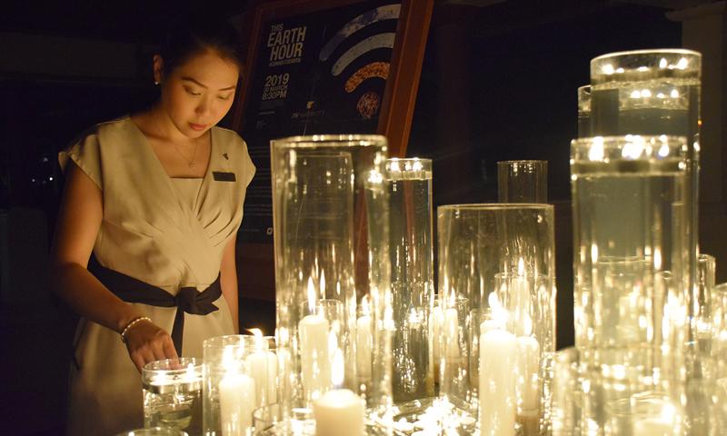 เจดับเบิ้ลยู แมริออท จัดกิจกรรมวัน Earth Hour รวมพลัง รักษ์โลก
