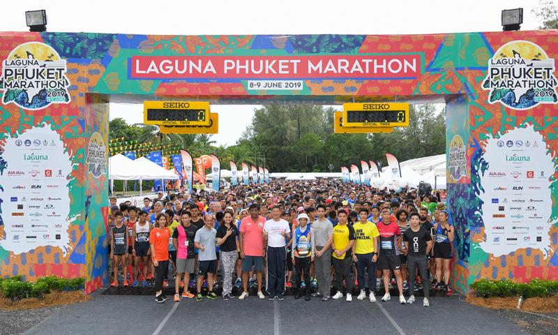 นักวิ่งกว่า 73 ประเทศทั่วโลกร่วมวิ่งมาราธอน ลากูน่า ภูเก็ต 2019