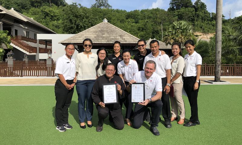 ภูเก็ต แมริออท รีสอร์ท แอนด์ สปา, ในยางบีช คว้าสองรางวัลจาก  World Luxury Spa and Restaurant awards