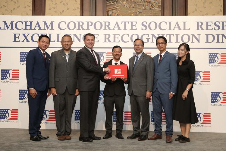ลากูน่าภูเก็ตรับรางวัลเกียรติยศด้าน CSR ระดับเหรียญทองโดยหอการค้าอเมริกันในประเทศไทย (2019 AMCHAM's CSR Excellence Recognition)