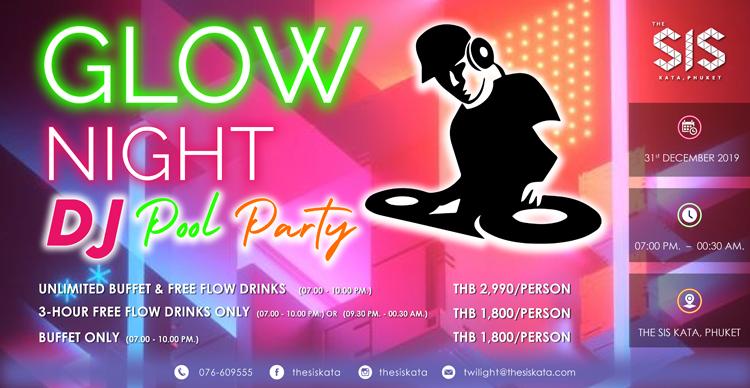 Glow Night DJ Pool Party