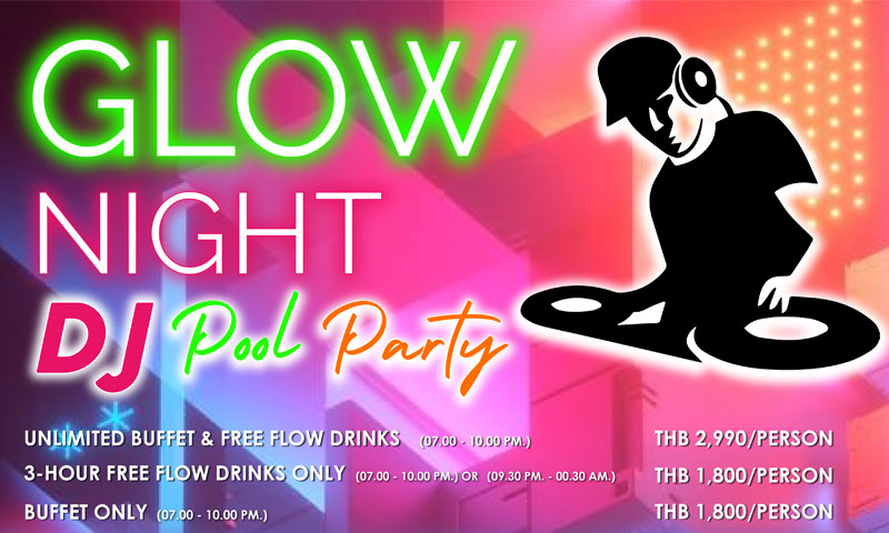 Glow Night DJ Pool Party