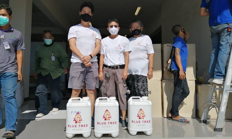 บลูทรีภูเก็ต ร่วมเป็นส่วนหนึ่งในการช่วยเหลือคนไทย
