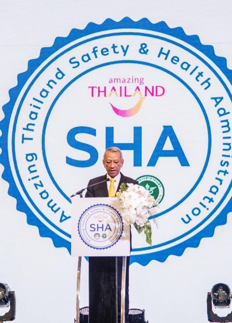 """2 กระทรวงจับมือ สร้างมาตรฐานท่องเที่ยวมั่นใจปลอดภัยด้วยสาธารณสุข มอบสัญลักษณ์ """"SHA""""แก่ผู้ประกอบการที่ผ่านเกณฑ์"""